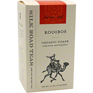 Silk Road Tea Rooibos Organic Tisane, 15 ct