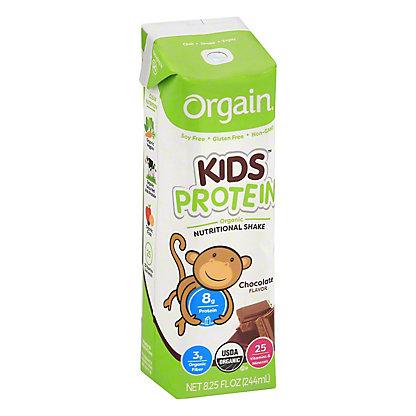 Orgain Kids Chocolate Nutritional Shake, 8.25 oz