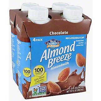 Blue Diamond Almond Breeze Chocolate Almondmilk 8 oz Bottles, 4 pk