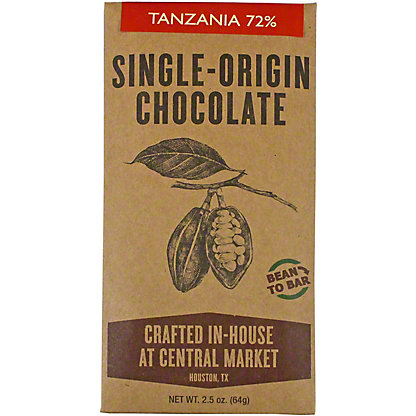 Central Market Bean To Bar Tanzania 72%, 2.5 oz