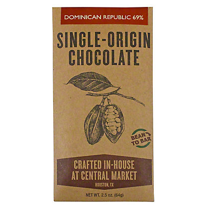 Central Market Bean To Bar Dominican Republic 71%, 2.5 oz