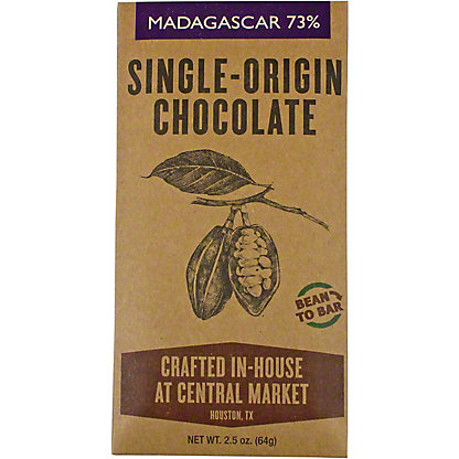 Central Market Bean To Bar Madagascar 73%, 2.5 oz