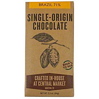 Central Market Bean To Bar Brazil 71%, 2.5 oz