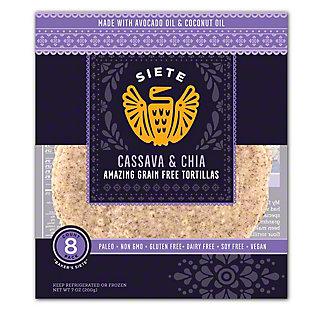 Siete Tortillas Cassava & Chia, 7 oz
