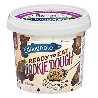 Edoughble Ready to Eat Chocolate Chip Cookie Dough, 12 Oz