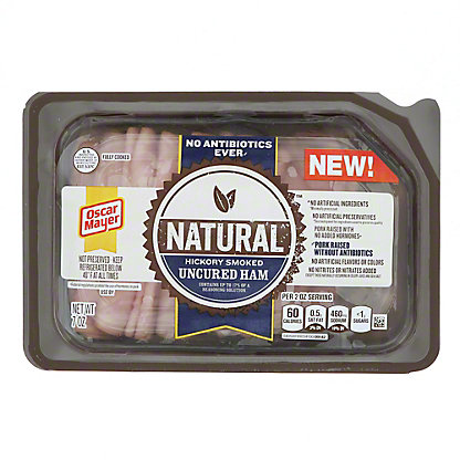Oscar Mayer Natural Hickory Smoked Uncured Ham, 7 oz