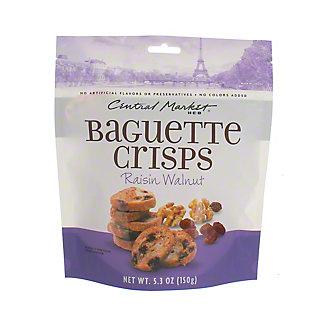 Central Market Raisin Walnut Baguette Crisps, 5.3 oz