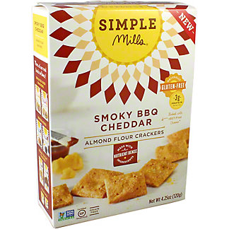 Simple Mills Almond Cracker Smoky BBQ Cheddar, 4.25 oz