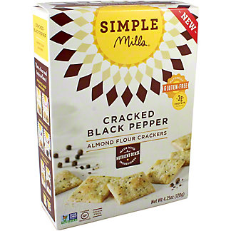 Simple Mills Almond Crackers Cracked Black Pepper, 4.25 oz