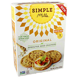 Simple Mills Sprouted Crackers Original, 4.25 oz