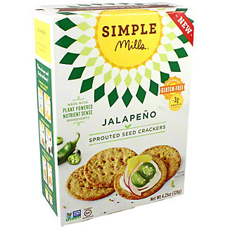Simple Mills Simple Mills Sprouted Crackers Jalapeno, 4.25 oz