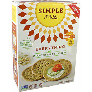 Simple Mills Sprouted Crackers Everything, 4.25 oz