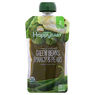 Happy Baby Organics Clearly Crafted Green Beans Spinach Pears, 4 oz