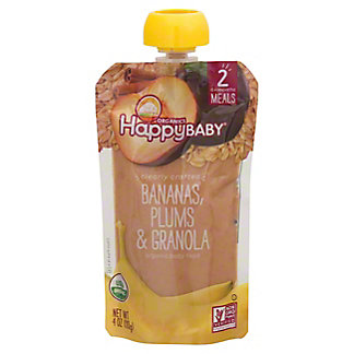 Happy Baby Clearly Crafted Clearly Crafted Stage 2 Banana Plums & Granola, 4 oz