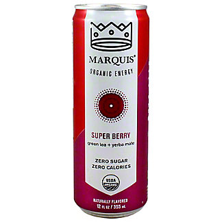 Marquis Organic Super Berry Energy Drink, 12 oz