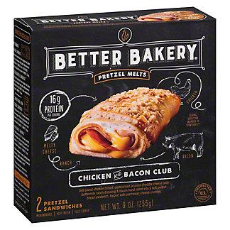 Better Bakery Pretzel Melts Chicken And Bacon Club, 9 oz