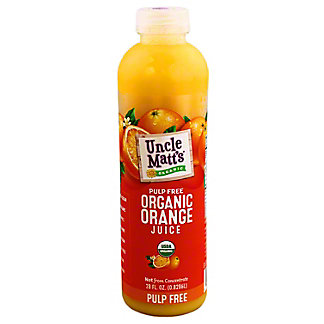 Uncle Matts Organic Orange Juice Pulp Free, 28OZ