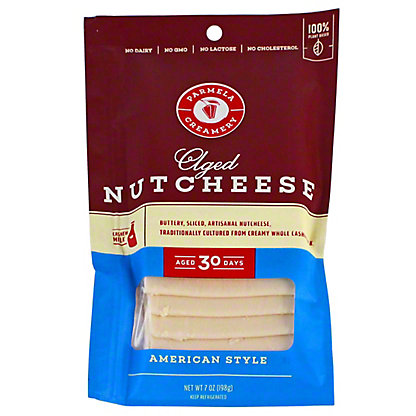 Parmela Creamery Nutcheese Slice American Style, 7 oz