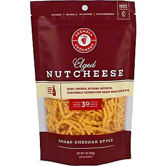 Parmela Creamery Nutcheeses Shredded Sharp Cheddar, 7 oz