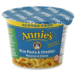 Annies Rice Pasta & Cheddar Cup Gluten Free, 2.01 oz