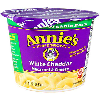 ANNIES PASTA CUP WHITE CHEDDAR