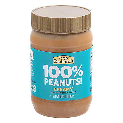 Crazy Richards Creamy Peanut Butter, 16 oz