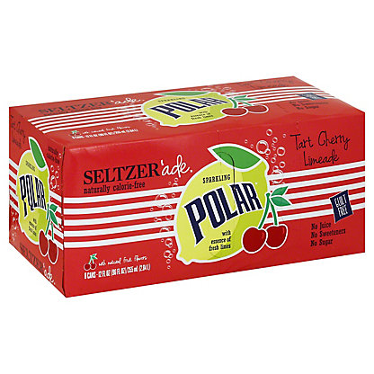 Polar Seltzer Ade Tart Cherry Limeade,8 ea