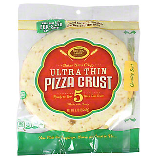 Golden Home Pizza Crust Ultra Thin 7 Inch, 5 ct.