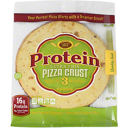 Golden Home Ultra Thin 7 Inch Protein Pizza Crust, 5 ct