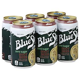 Blue Sky Root Beer Zero Sugar 12 oz Cans, 6 pk