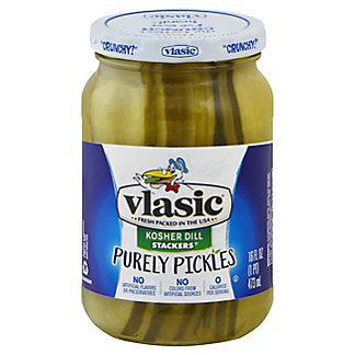 Vlasic Purely Pickles Kosher Dill Stackers, 16 oz