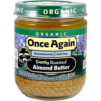 Once Again Organic Nut Butter Almond Butter Crunchy, 12 oz