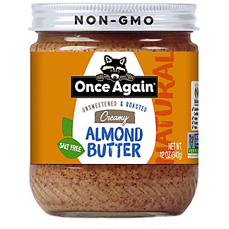 Once Again Unsweetened & Roasted Creamy Almond Butter, 12 oz