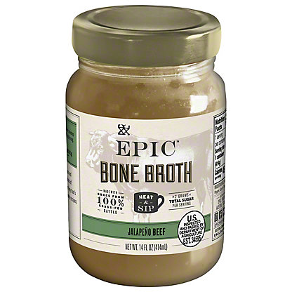 EPIC Beef Jalapeno Bone Broth, 14 oz