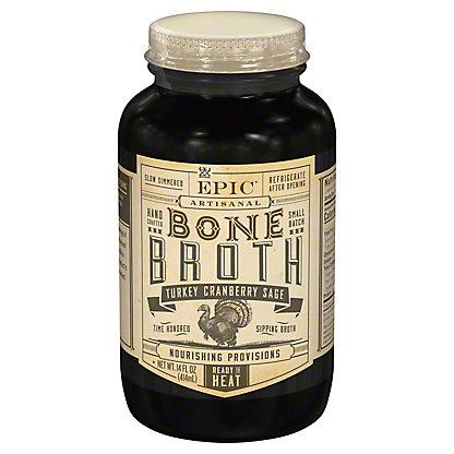 EPIC Cranberry Sage Turkey Bone Broth, 14 oz