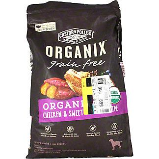 Castor& Pollux Organix Dog Food Grain Free Organic Chicken and Sweet Potato, 10 lb