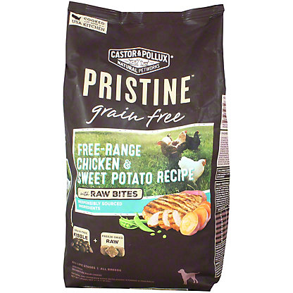 Castor& Pollux Pristine Dog Food Grain Free Free Range Chicken and Sweet Potato, 4 lb