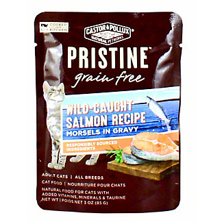 Castor & Pollux Pristine Cat Food Grain Free Wild Salmon Morsels &Gravy, 3 OZ