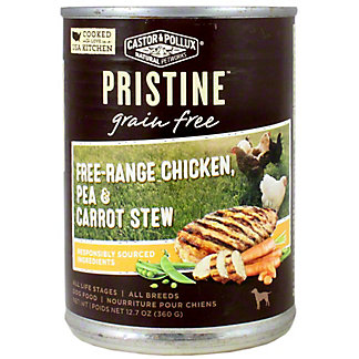 Castor & Pollux Pristine Dog Food Grain-Free Free-Range Chicken, Pea, and Carrot Stew, 12.7 OZ