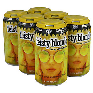 Hopfusion Feisty Blonde Ale 12 oz Cans, 6 pk