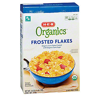 H-E-B Organics Frosted Flakes, 18 oz