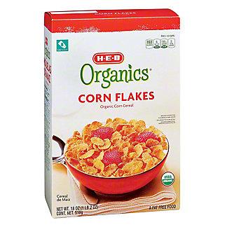 H-E-B Organics Corn Flakes, 18 oz