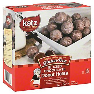 Katz Gluten Free Chocolate Glazed Donut Holes, 6 Oz