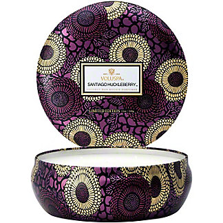 Voluspa Santiago Huckleberry 3 Wick Tin 12oz, Ea