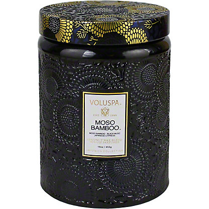 Voluspa Moso Bamboo Large Glass Jar 16oz, Ea
