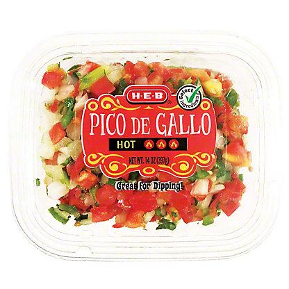 H-E-B Select Ingredients Hot Pico de Gallo, 14 oz