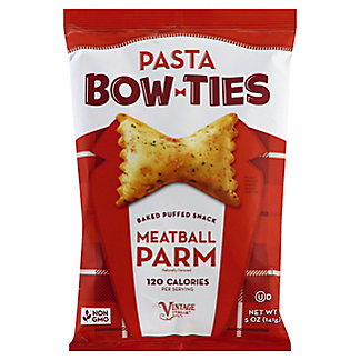 Vintage Pasta Bow Ties Meatball Parm Baked Puff Snacks, 5 oz