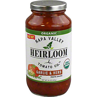 Napa Valley Heirloom Tomato Co. Garlic & Herb Pasta Sauce, 24 oz