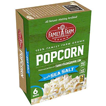 Family Farm Grown Sea Salt Microwave Popcorn, Ea