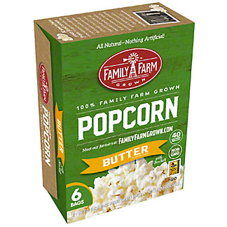 Family Farm Grown Microwave Popcorn Butter, Ea